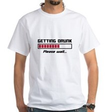 Getting Drunk Please Wait Loading Bar T-Shirt