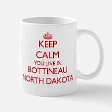 Keep calm you live in Bottineau North Dakota Mugs