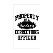 Hardcore Corrections Officer Rectangle Decal