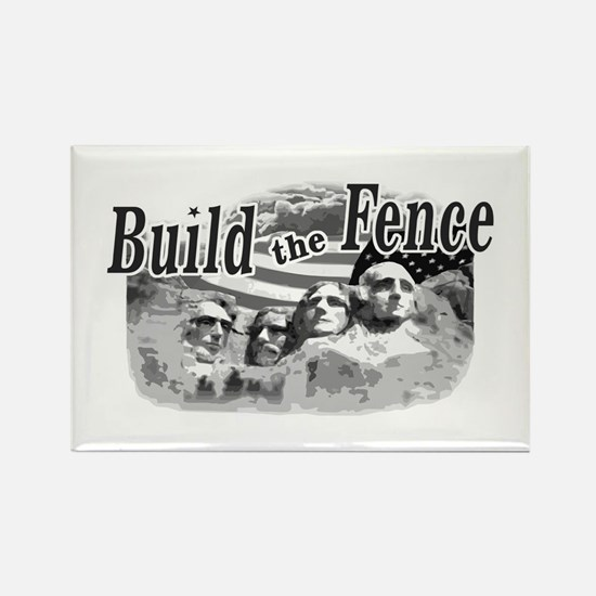 Build The Fence Rectangle Magnet