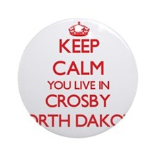 Keep calm you live in Crosby Nort Ornament (Round)