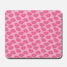 Girly Pink Lips Mousepad