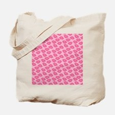 Girly Pink Lips Tote Bag