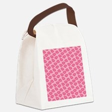 Girly Pink Lips Canvas Lunch Bag