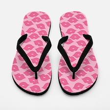 Girly Pink Lips Flip Flops