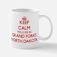 Keep calm you live in Grand Forks North Dakot Mugs