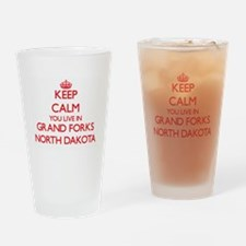 Keep calm you live in Grand Forks N Drinking Glass