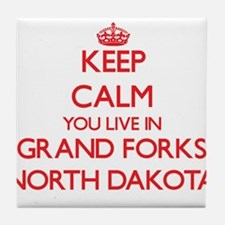 Keep calm you live in Grand Forks Nor Tile Coaster
