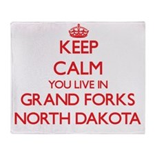 Keep calm you live in Grand Forks No Throw Blanket