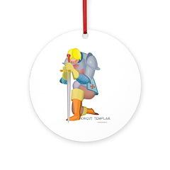 The Knight Templar kneeling Ornament (Round)