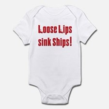 Soprano Loose lips sink ship Infant Bodysuit