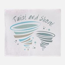 Twist and Shout Throw Blanket
