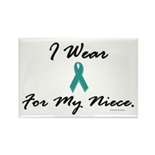 Wear Teal For My Niece 1 Rectangle Magnet