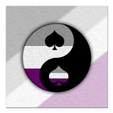 "yin yang Square Car Magnet 3"" x 3"""