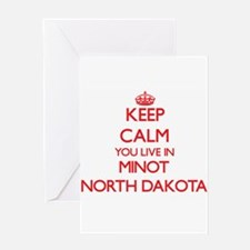 Keep calm you live in Minot North D Greeting Cards