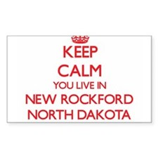 Keep calm you live in New Rockford North D Decal