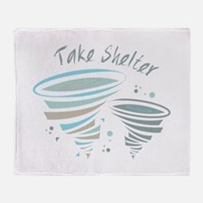 Take Shelter Throw Blanket