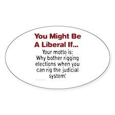 Liberals Hijacking The Judiciary Oval Decal