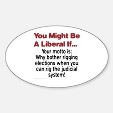 Liberals Hijacking The Judiciary Oval Decal