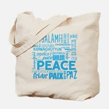 Peace Word Cloud Tote Bag