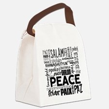 Peace Word Cloud Canvas Lunch Bag