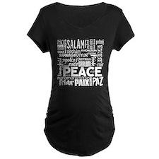 Peace Word Cloud Maternity T-Shirt