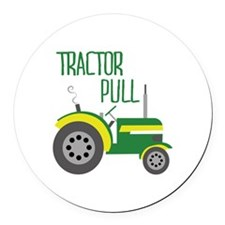 Tractor Pull Round Car Magnet