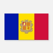 Andorra Flag Rectangle Car Magnet