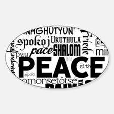 Peace Word Cloud Decal
