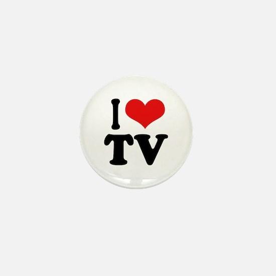 I Love TV Mini Button