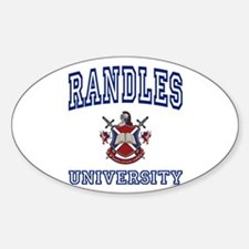 RANDLES University Oval Decal