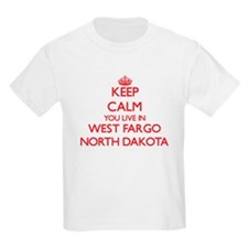 Keep calm you live in West Fargo North Dak T-Shirt