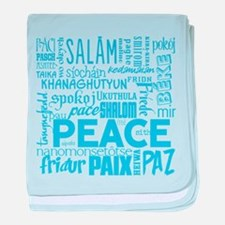 Peace Word Cloud baby blanket