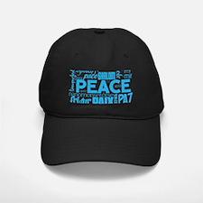Peace Word Cloud Baseball Hat