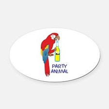 PARTY ANIMAL Oval Car Magnet