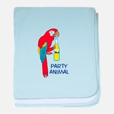 PARTY ANIMAL baby blanket