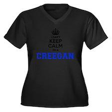 Cute Calm Women's Plus Size V-Neck Dark T-Shirt