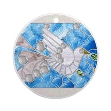 Peace Dove Round Ornament