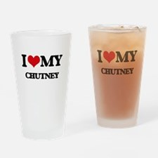 I Love My CHUTNEY Drinking Glass