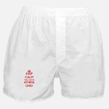 Keep calm you live in Athens Ohio Boxer Shorts