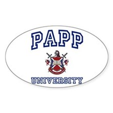 PAPP University Oval Decal