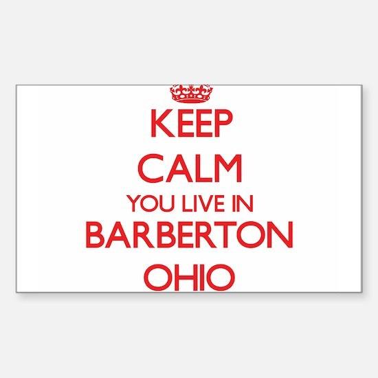Keep calm you live in Barberton Ohio Decal