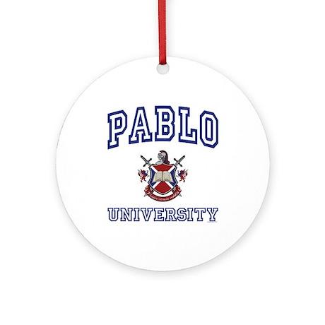 PABLO University Ornament (Round)