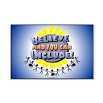 Believe and Include Mini Poster Print