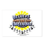 Believe and Include Postcards (Package of 8)