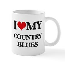 I Love My COUNTRY BLUES Mugs