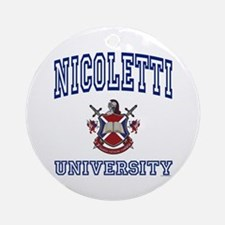 NICOLETTI University Ornament (Round)