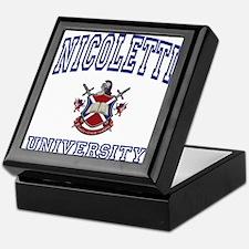 NICOLETTI University Keepsake Box