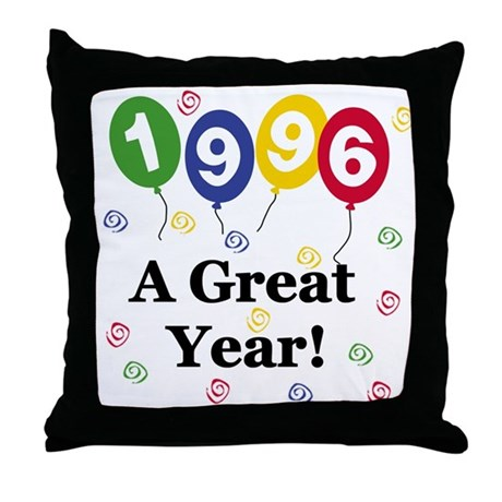 1996 A Great Year Throw Pillow
