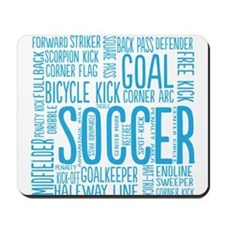 Soccer Word Cloud Mousepad